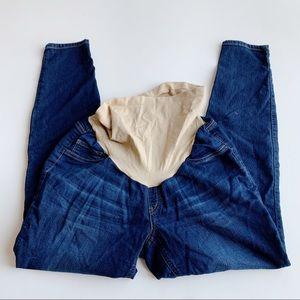 Indigo Blue Maternity Skinny Jeans Full Panel 1X
